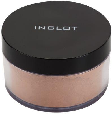 Inglot Basic mattierender loser Puder zur perfekten Fixierung des Make ups