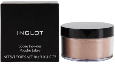 Inglot Basic матираща насипна пудра за съвършено фиксиране на фон дьо тена 2