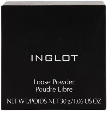 Inglot Basic матираща насипна пудра за съвършено фиксиране на фон дьо тена 3