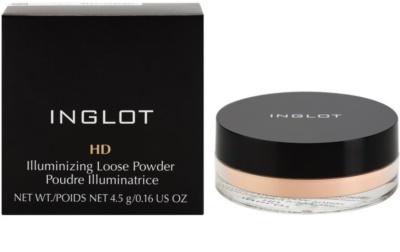 Inglot HD rozświetlający puder sypki z proszkiem diamentowym 2