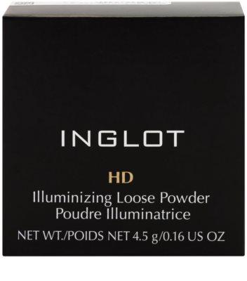 Inglot HD rozświetlający puder sypki z proszkiem diamentowym 3