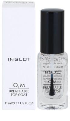 Inglot O₂M горен лак за нокти 1