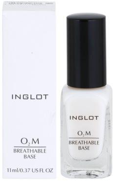 Inglot O₂M Basislack für Fingernägel 1