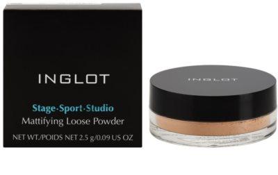 Inglot Stage Sport Studio pó solto matificante 2