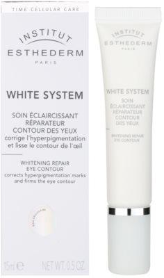 Institut Esthederm White System крем для шкіри навколо очей від  зморшок, набряків та темних кіл під очима 1