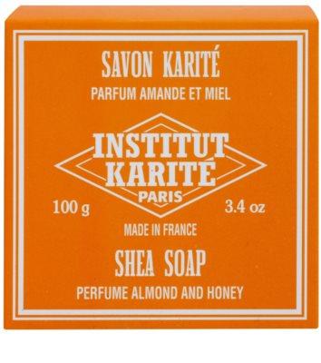 Institut Karité Paris Almond & Honey Feinseife mit Bambus Butter