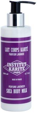 Institut Karité Paris Lavender gyengéd testápoló tej a táplálásért és hidratálásért