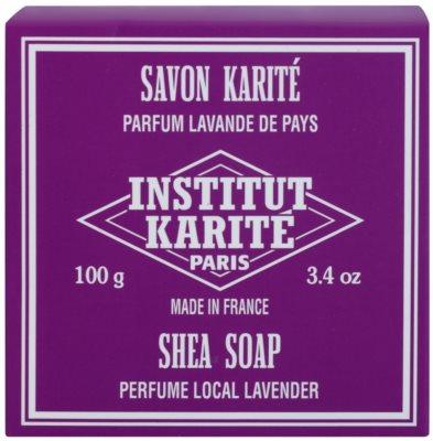 Institut Karité Paris Lavender parfümös szappan bambusszal