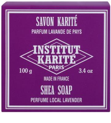 Institut Karité Paris Lavender tuhé mydlo s bambuckým maslom