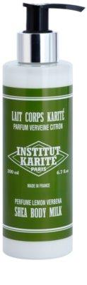 Institut Karité Paris Lemon Verbena gyengéd testápoló tej hidratáló hatással