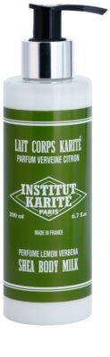 Institut Karité Paris Lemon Verbena loção corporal suave com efeito hidratante