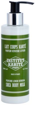 Institut Karité Paris Lemon Verbena sanfte Bodymilch mit feuchtigkeitsspendender Wirkung