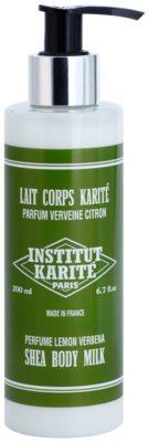 Institut Karité Paris Lemon Verbena делікатне молочко для тіла зі зволожуючим ефектом