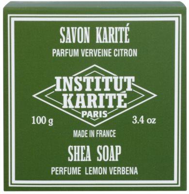 Institut Karité Paris Lemon Verbena tuhé mydlo pre citlivú pokožku 2