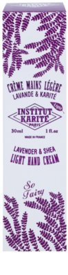 Institut Karité Paris So Fairy Lavender & Shea leichte Creme für die Hände 2