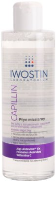 Iwostin Capillin tisztító micelláris víz Érzékeny, bőrpírra hajlamos bőrre