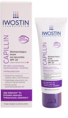 Iwostin Capillin lahka krepilna krema za razpokane žilice SPF 20 1