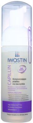 Iwostin Capillin почистваща и отстраняваща грима пяна за чувствителна кожа с разширени вени