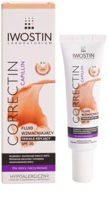 Iwostin Capillin Correctin fluido para fortalecer a longo prazo a pele propensa a vermelhidão SPF 30 1