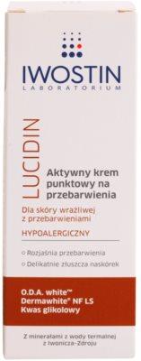 Iwostin Lucidin crema de día activa  contra problemas de pigmentación 2