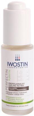 Iwostin Purritin Perfectin Profesjonalny peeling na noc do skóry tłustej ze skłonnością do trądziku