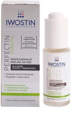 Iwostin Purritin Perfectin професионален нощен пилинг за мазна кожа склонна към акне 1