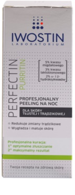 Iwostin Purritin Perfectin Profesjonalny peeling na noc do skóry tłustej ze skłonnością do trądziku 2
