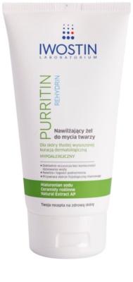 Iwostin Purritin Rehydrin nawilżający żel oczyszczający do skóry wysuszonej i podrażnionej leczeniem trądziku