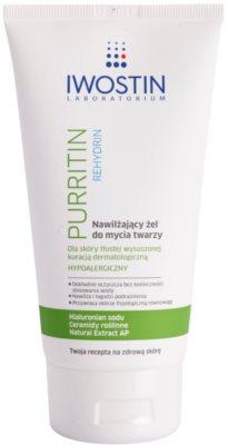 Iwostin Purritin Rehydrin хидратиращ почистващ гел за кожа, която е суха и раздразнена от медикаментозно лечение на акне