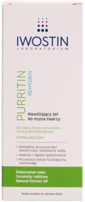 Iwostin Purritin Rehydrin feuchtigkeitsspendendes Reinigungsgel für durch die Akne Behandlung trockene und irritierte Haut 2