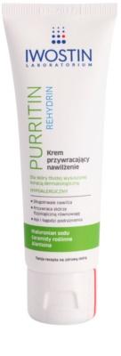 Iwostin Purritin Rehydrin Feuchtigkeitscreme für durch die Akne Behandlung trockene und irritierte Haut