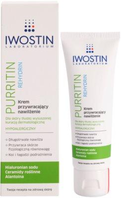 Iwostin Purritin Rehydrin Feuchtigkeitscreme für durch die Akne Behandlung trockene und irritierte Haut 1