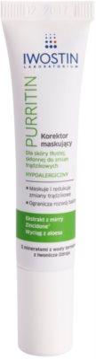Iwostin Purritin corretor de cobertura para pele oleosa propensa a acne