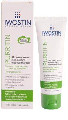 Iwostin Purritin Aktiv-Tagescreme gegen die Unvollkommenheiten der Haut 1