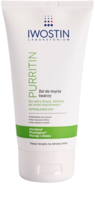 Iwostin Purritin gel para lavar para pieles grasas con tendencia acnéica