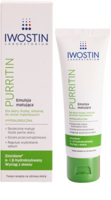 Iwostin Purritin matirajoča emulzija za mastno k aknam nagnjeno kožo 1
