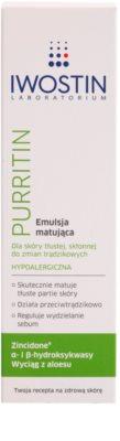 Iwostin Purritin matirajoča emulzija za mastno k aknam nagnjeno kožo 2