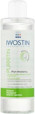 Iwostin Purritin agua micelar limpiadora para pieles grasas con tendencia acnéica