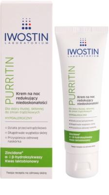 Iwostin Purritin crema de noche contra las imperfecciones de la piel 1