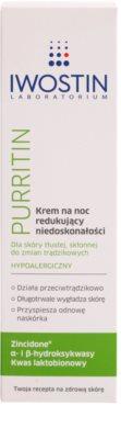 Iwostin Purritin crema de noche contra las imperfecciones de la piel 2