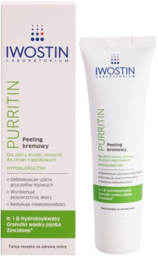 Iwostin Purritin крем-пілінг для жирної шкіри зі схильністю до акне 1