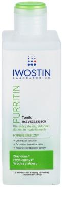 Iwostin Purritin tonic pentru curatare pentru tenul gras, predispus la acnee