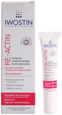 Iwostin Re-Actin crema anti rid pentru ochi pentru piele sensibila 1