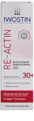 Iwostin Re-Actin crema de noche antiarrugas  para pieles sensibles 2