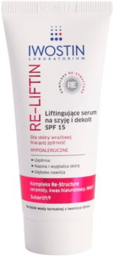 Iwostin Re-Liftin lifting serum za vrat in dekolte SPF 15
