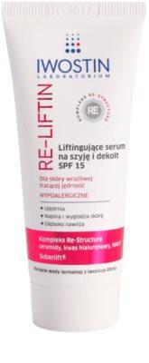 Iwostin Re-Liftin sérum com efeito lifting para pescoço e decote SPF 15