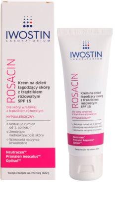 Iwostin Rosacin успокояващ дневен крем против зачервяване SPF 15 1