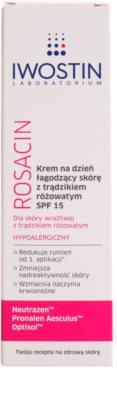 Iwostin Rosacin успокояващ дневен крем против зачервяване SPF 15 2