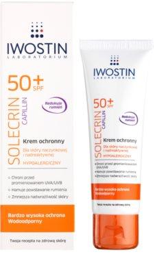 Iwostin Solercin Capillin creme protetor para pele com pequenos derrames SPF 50+ 1