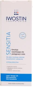 Iwostin Sensitia emulsja nawilżająca do skóry wrażliwej i podrażnionej 2